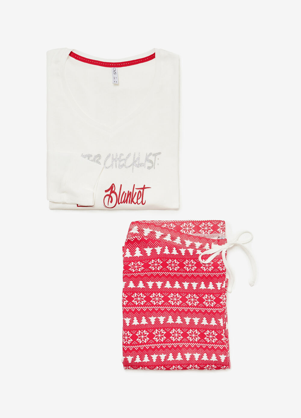 Pyjamas in 100% cotton with glitter lettering print