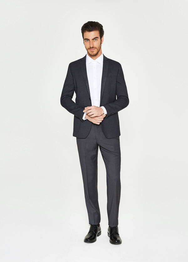 Giacca elegante slim fit viscosa stretch