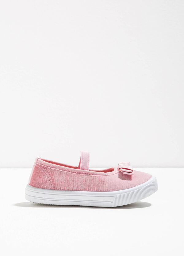 Canvas ballerina flats with strap | OVS