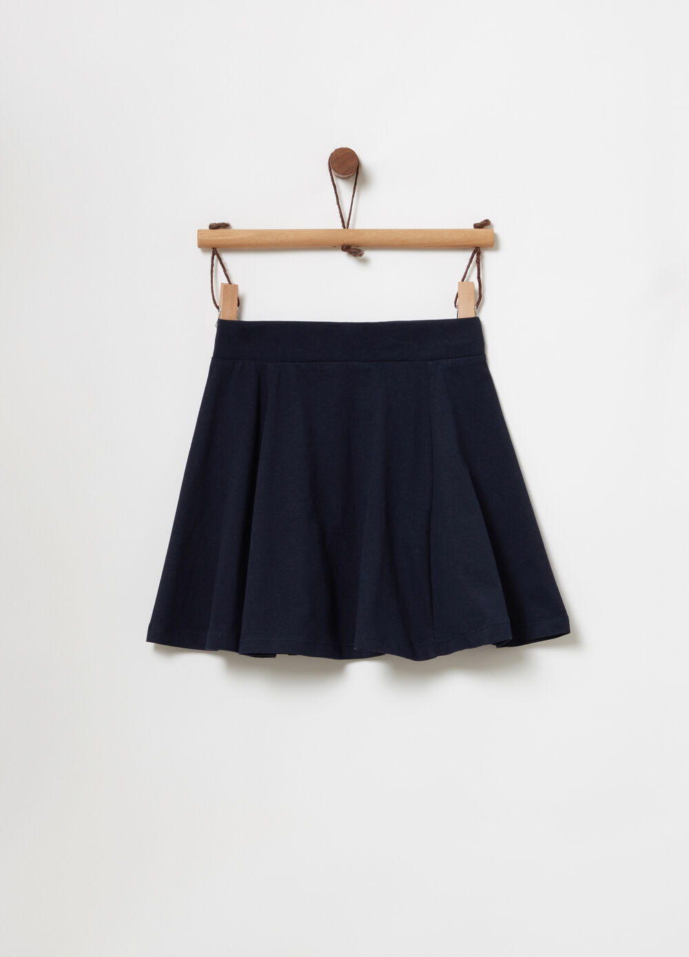 Solid colour heavy jersey skater skirt