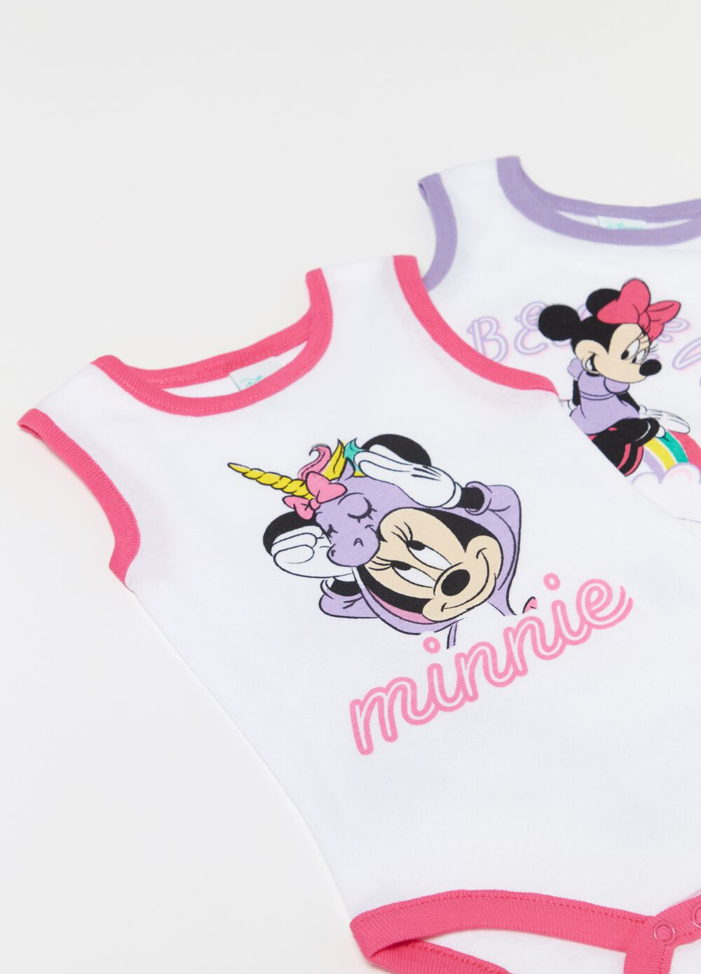 Two-pack Disney Baby bodysuits in 100% cotton