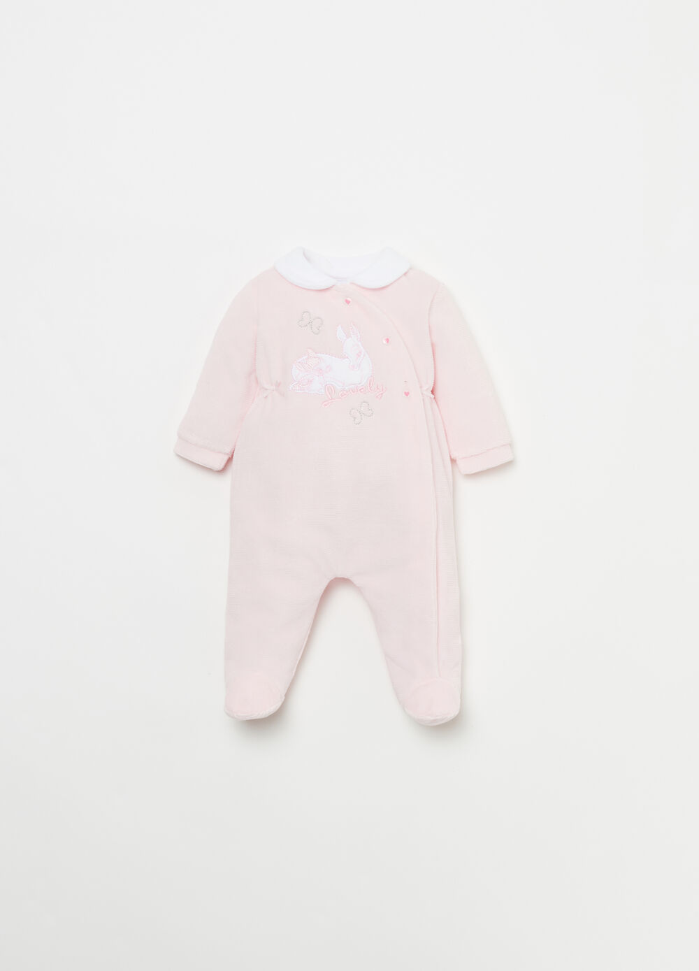 Velour onesie with Disney Baby embroidery