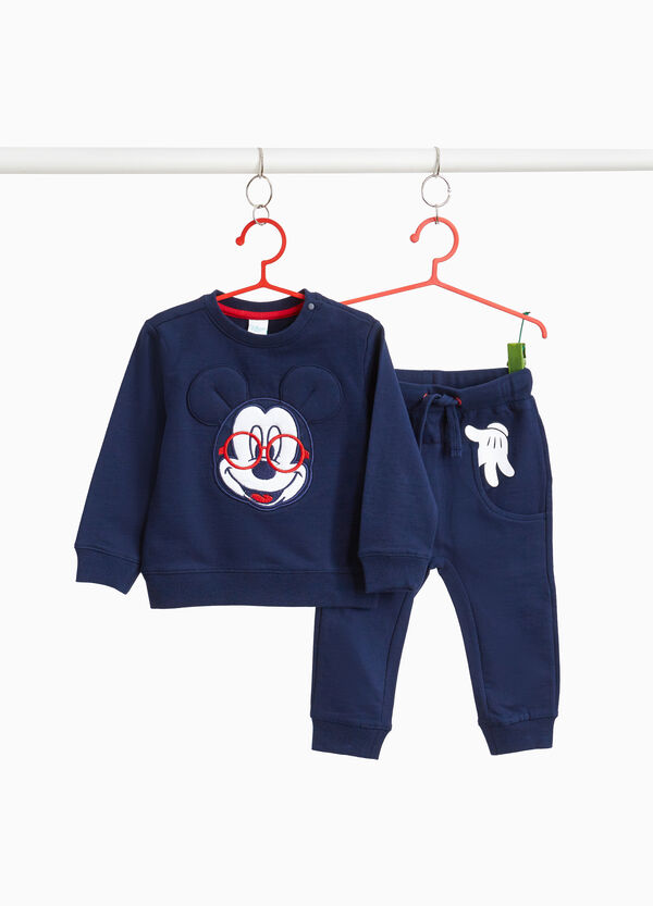 Mickey Mouse print tracksuit with patch