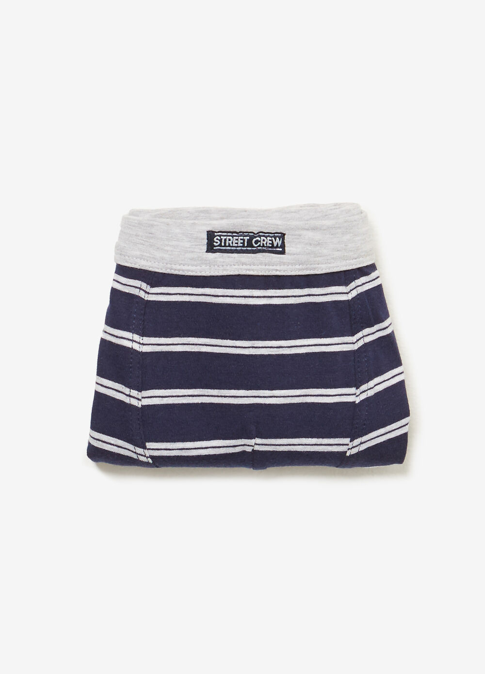 Stretch boxers with striped pattern