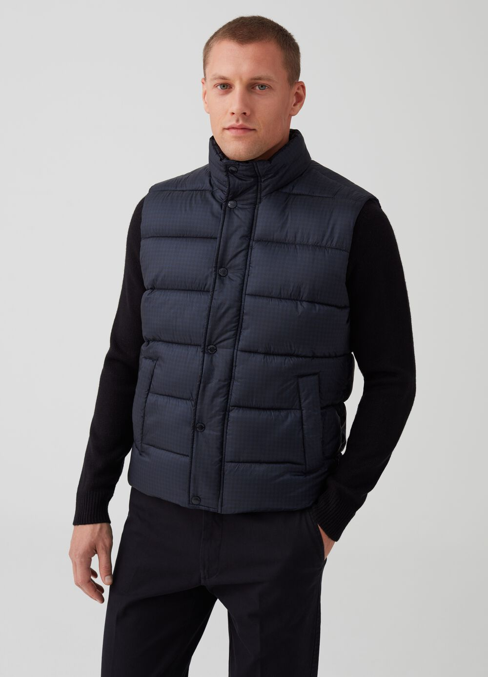 Rumford quilted and printed gilet