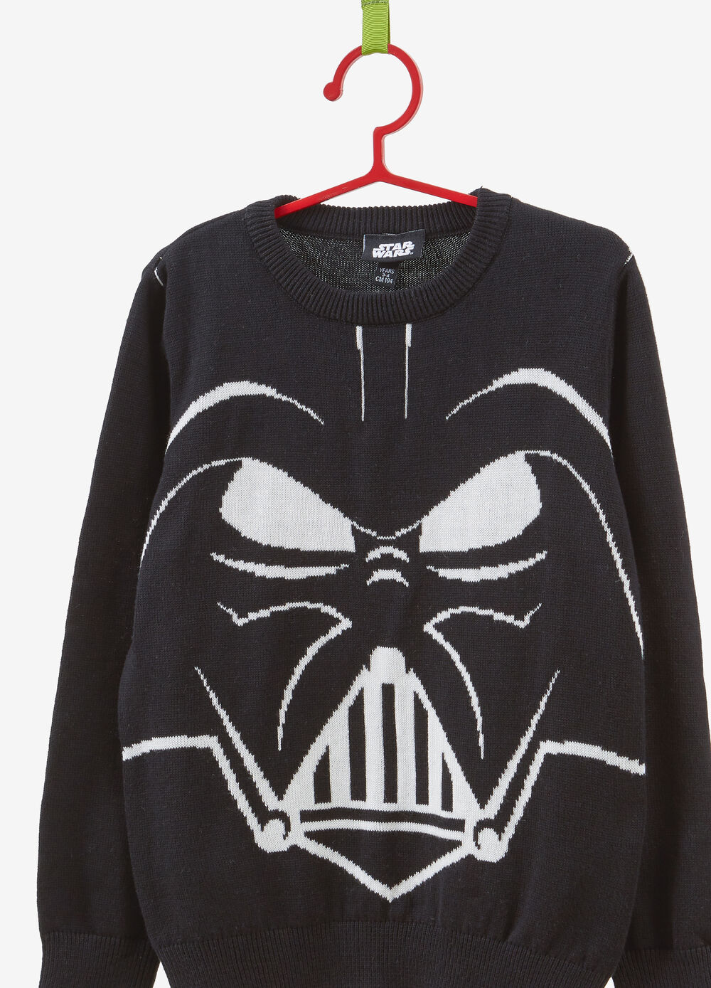 Pullover in 100% cotton with Darth Vader embroidery