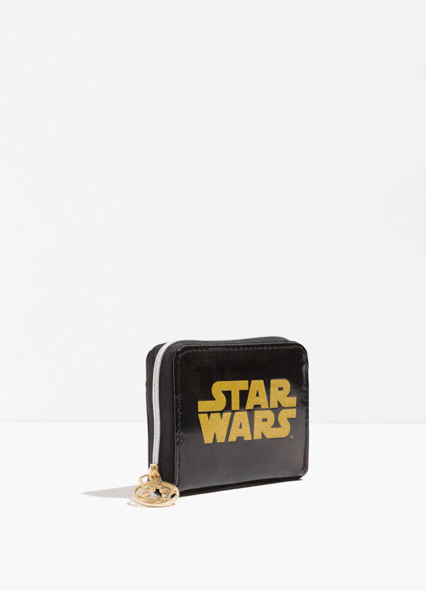 Star Wars coin purse with glitter print