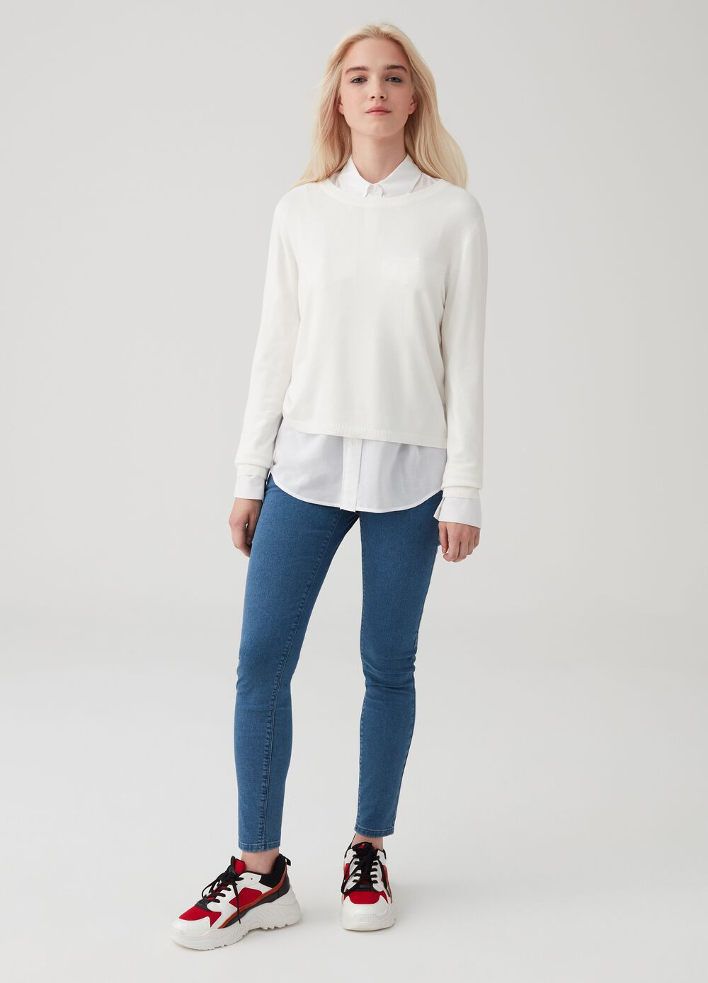 Push-up soft-touch stretch jeans