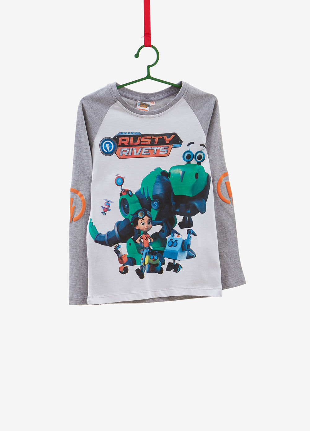 Cotton blend T-shirt with maxi Rusty Rivets print