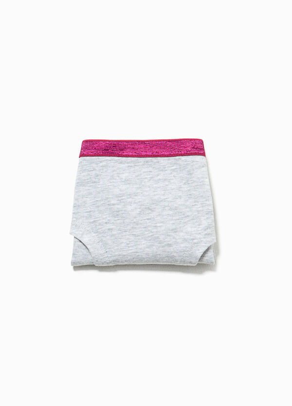 Organic cotton French knickers with lettering print | OVS