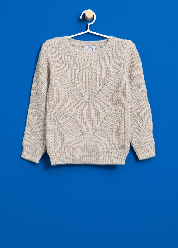 Pullover in lana e mohair tricot