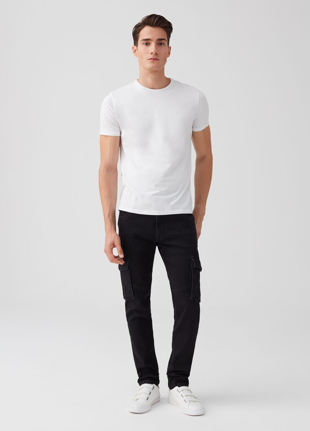 Slim-fit stretch joggers with pockets