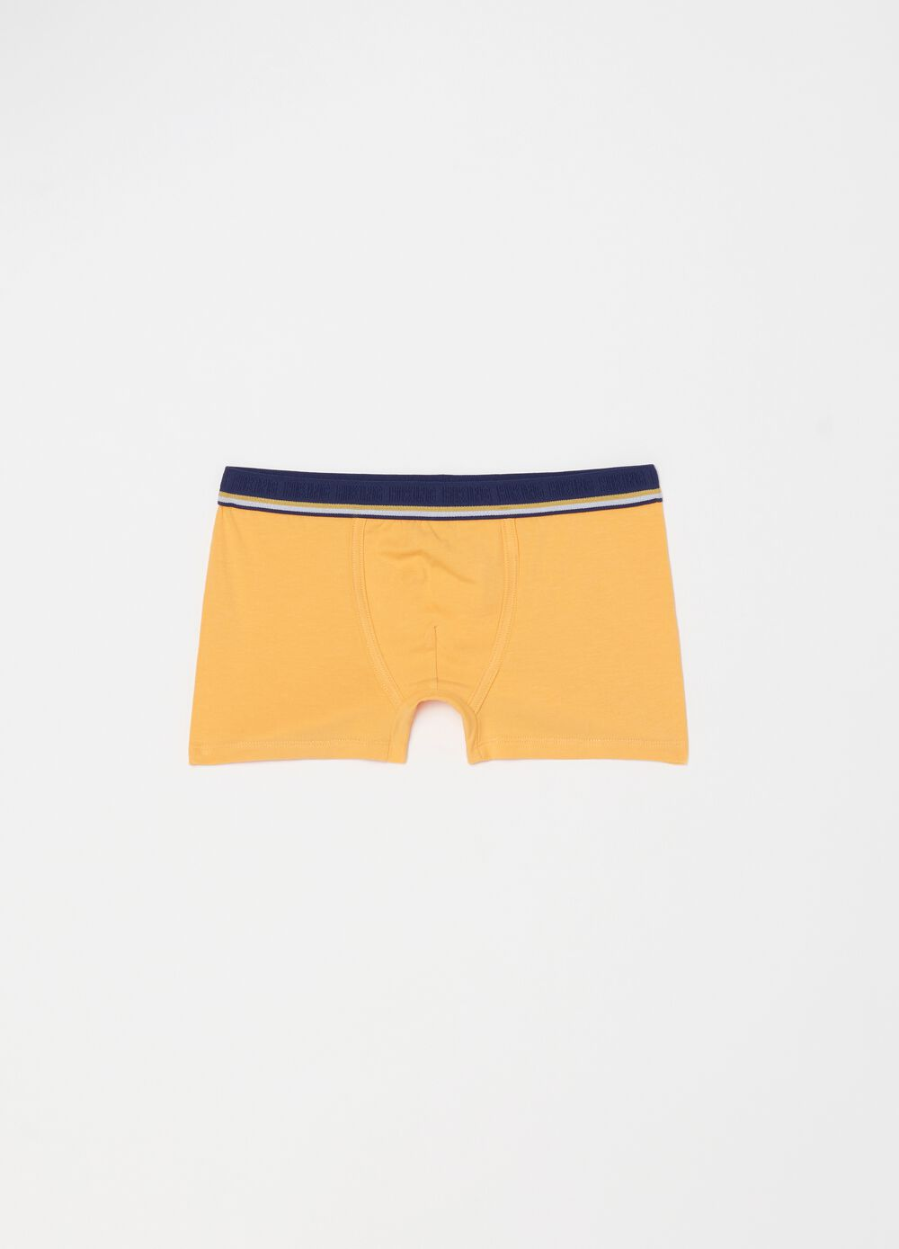 Solid colour stretch organic cotton boxer shorts