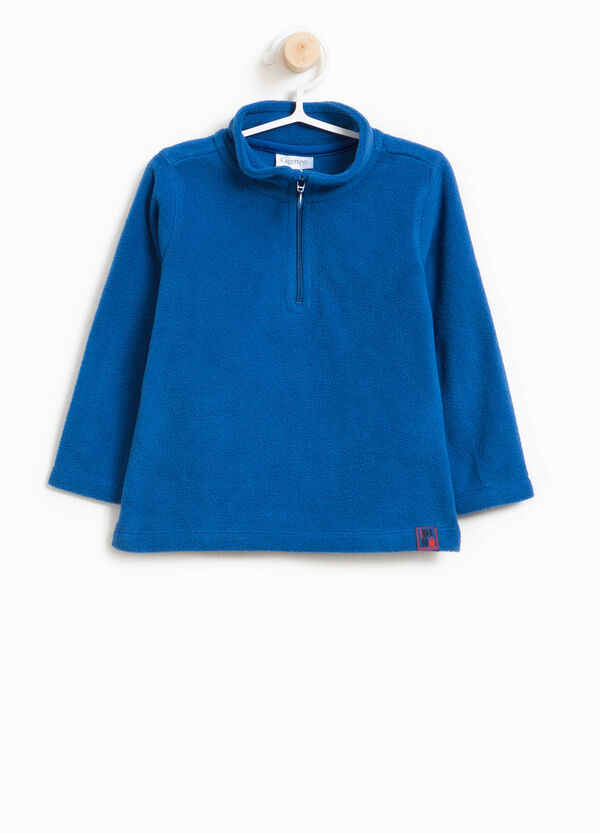 Solid colour sweatshirt with high neck | OVS