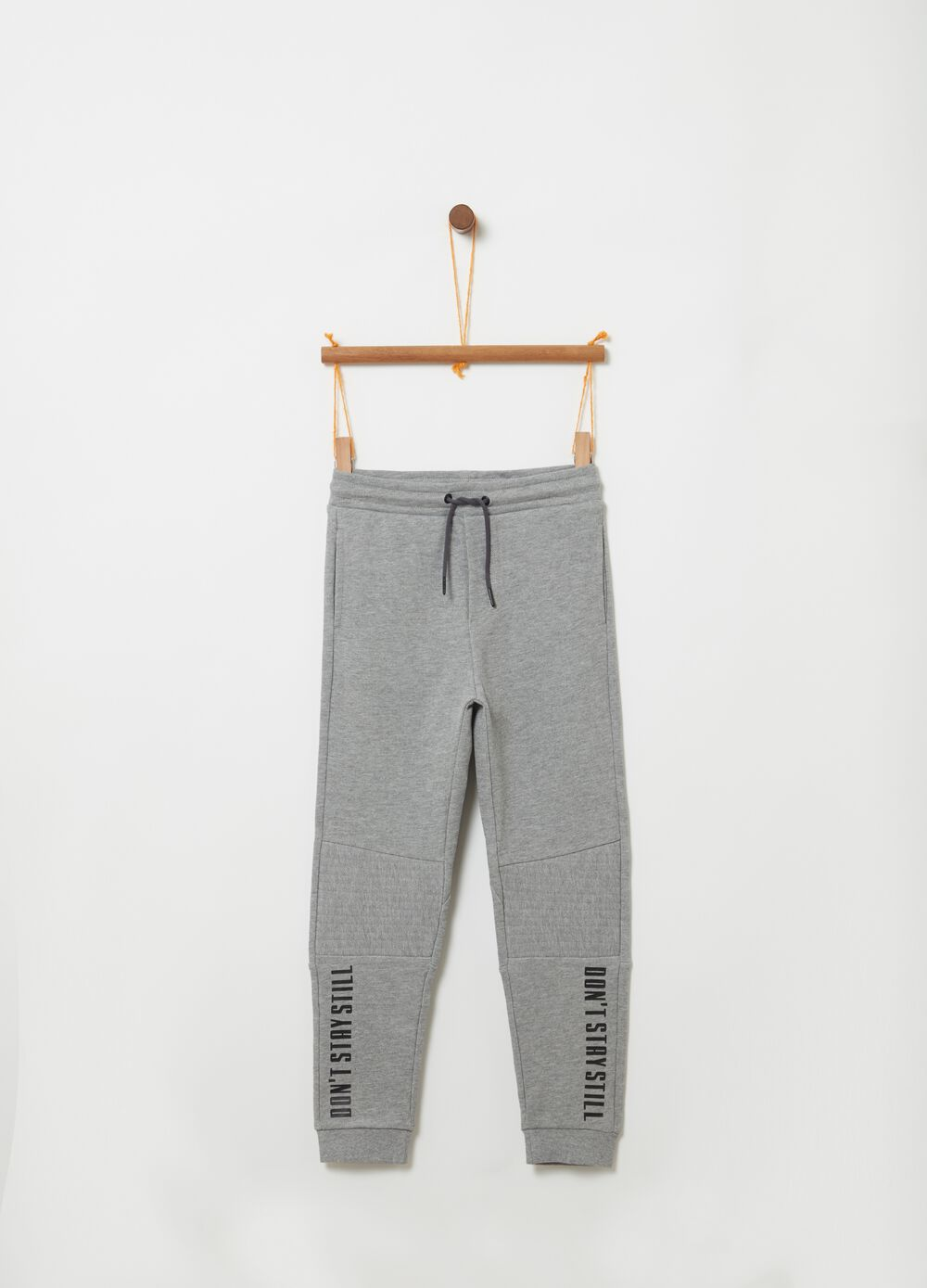 Pantaloni in French Terry mélange