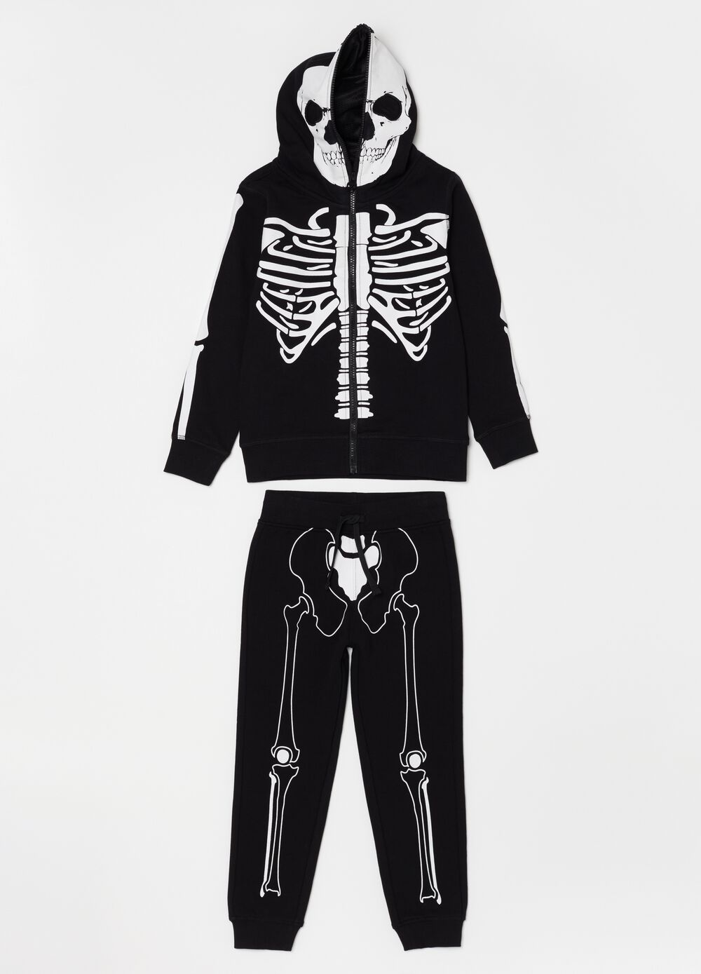 Jogging set with Halloween skull print