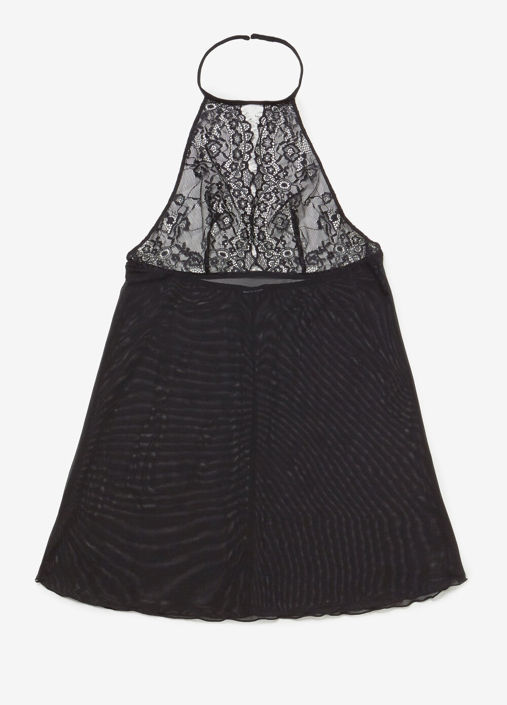 Stretch slip with lace