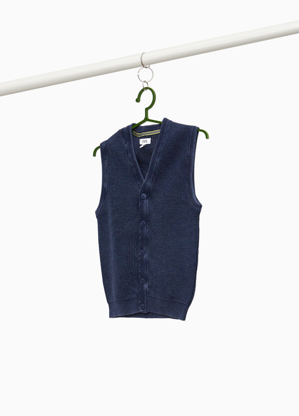 100% cotton knitted gilet