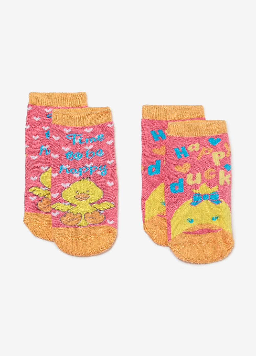 Two-pair pack BCI cotton slipper socks