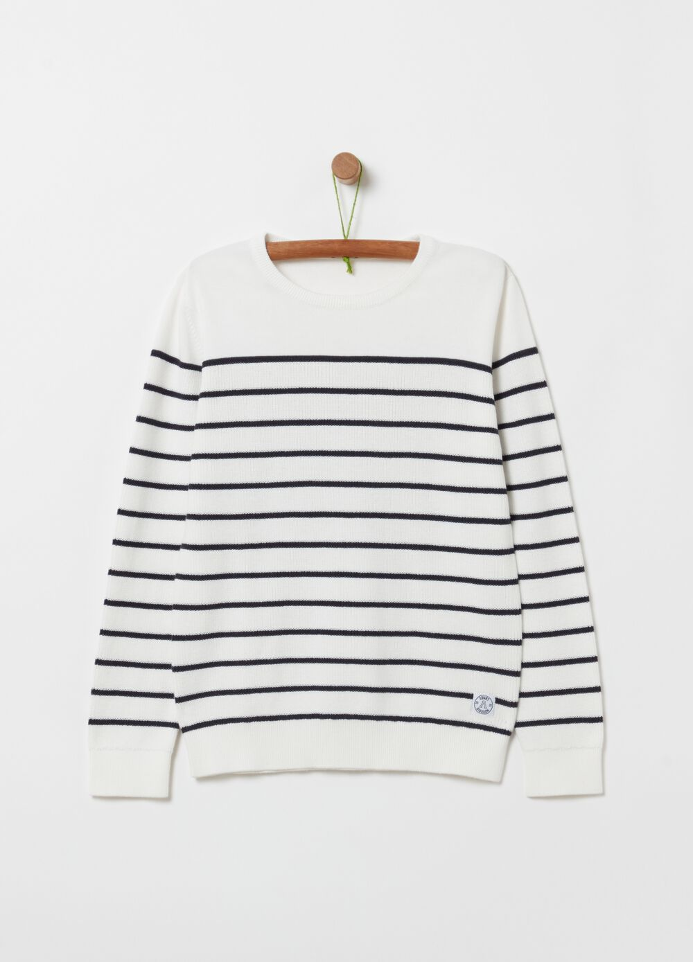 100% organic cotton top with stripes