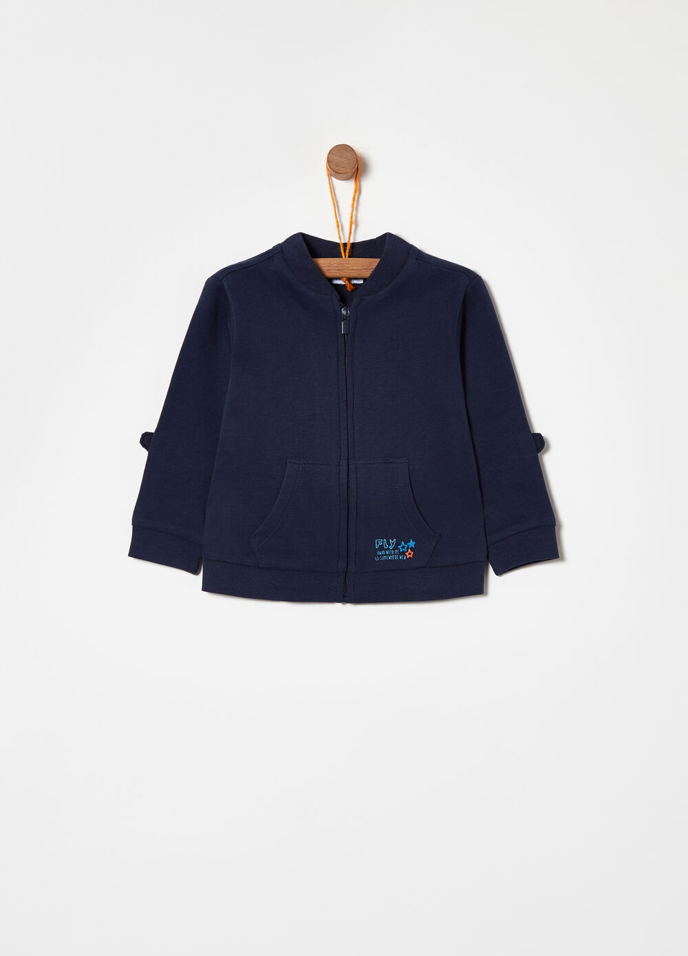 100% cotton sweatshirt with patch and print