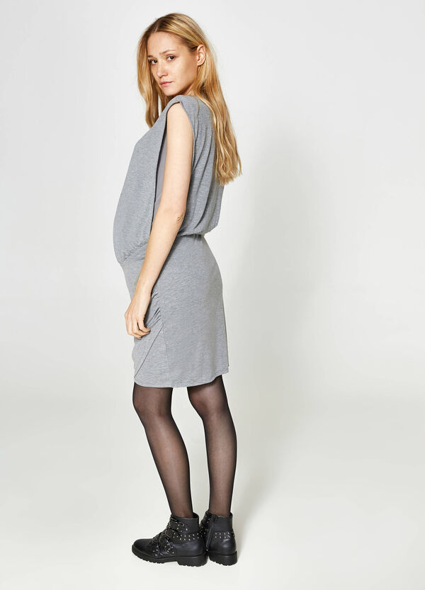 MUM crossover dress in viscose blend