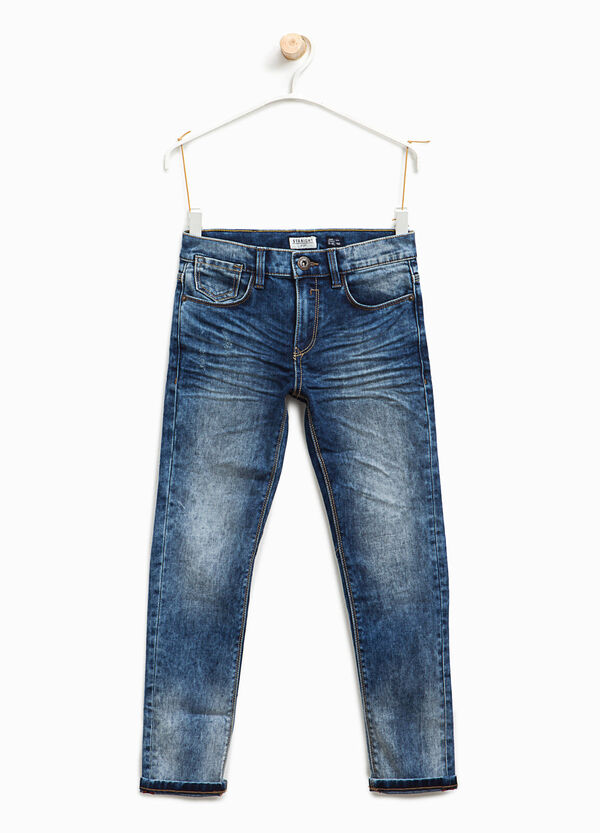 Straight-fit worn stretch jeans | OVS
