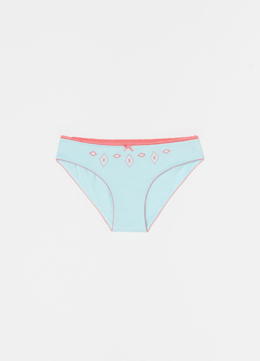 Organic cotton briefs with bow