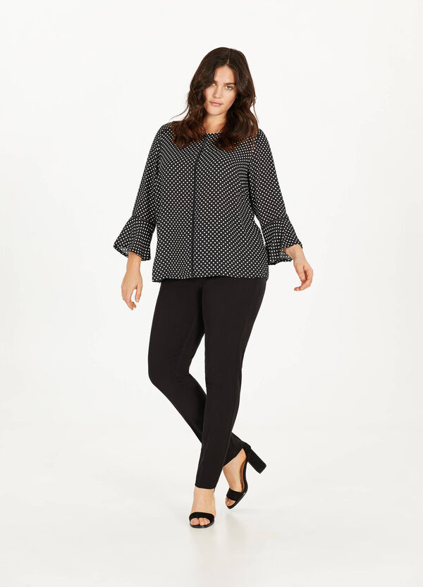 Curvy stretch trousers with crease