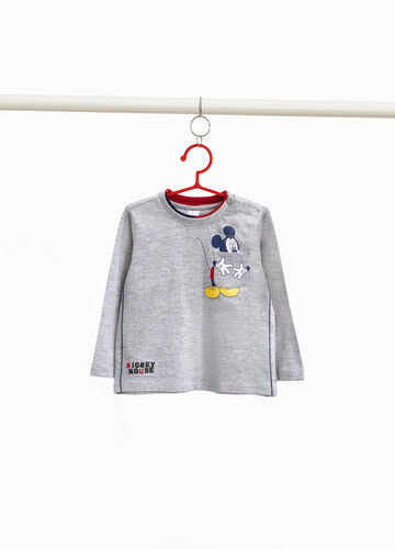 Mickey Mouse viscose and cotton T-shirt