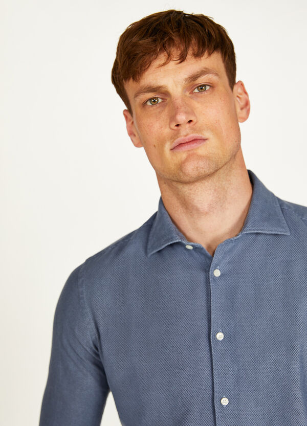 Rumford solid colour cotton shirt