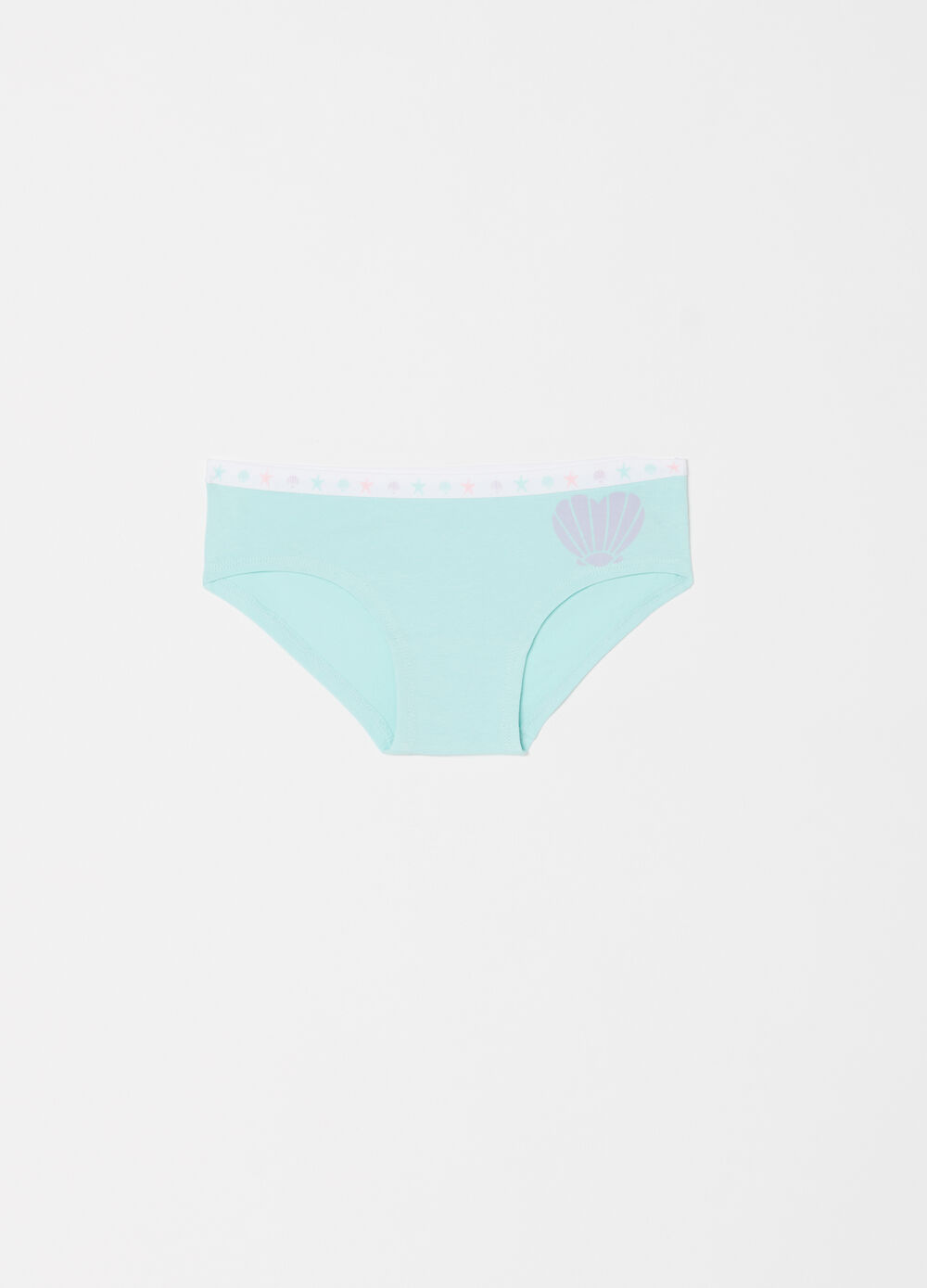 Stretch biocotton French knickers