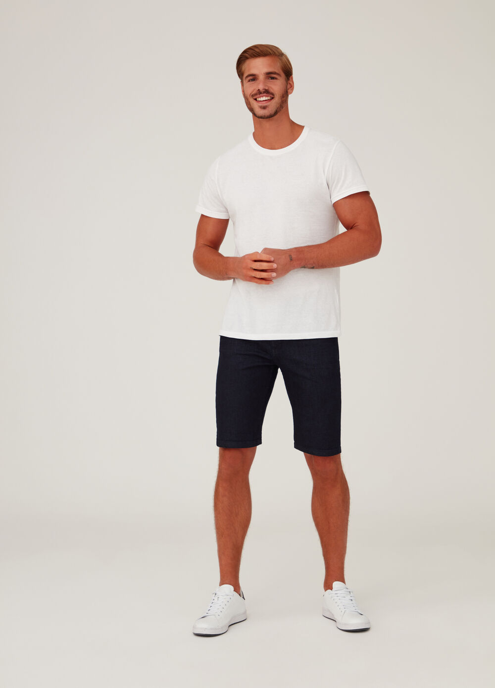 5-Pocket slim-fit denim shorts