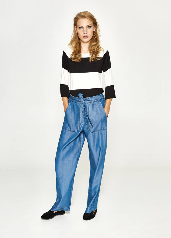 Jogger-fit palazzo jeans | OVS