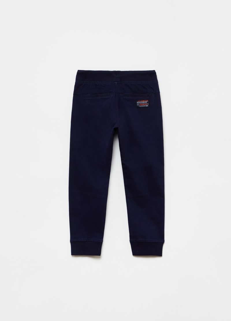 Stretch cotton joggers image number null