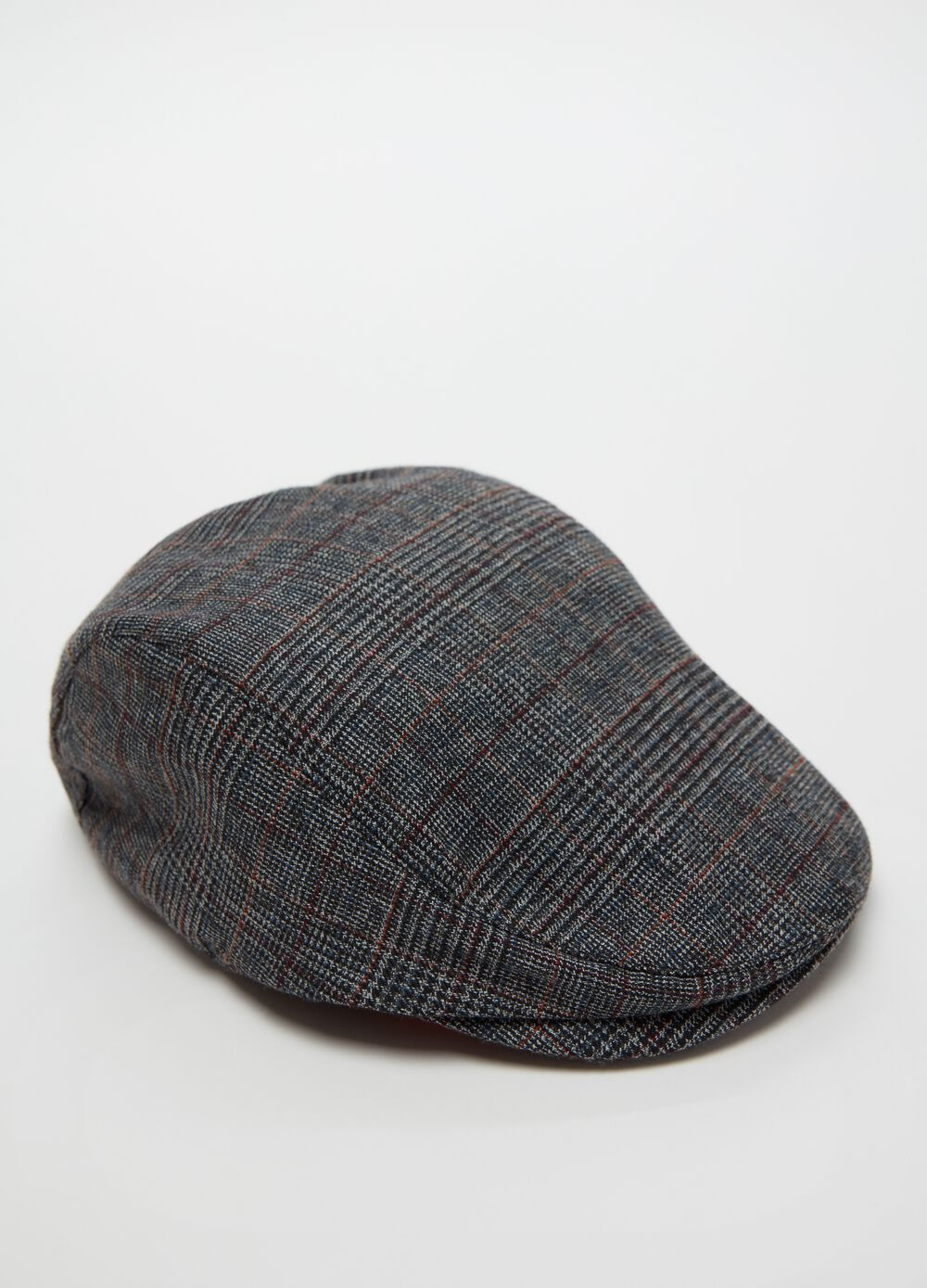 Soft check patterned flat cap