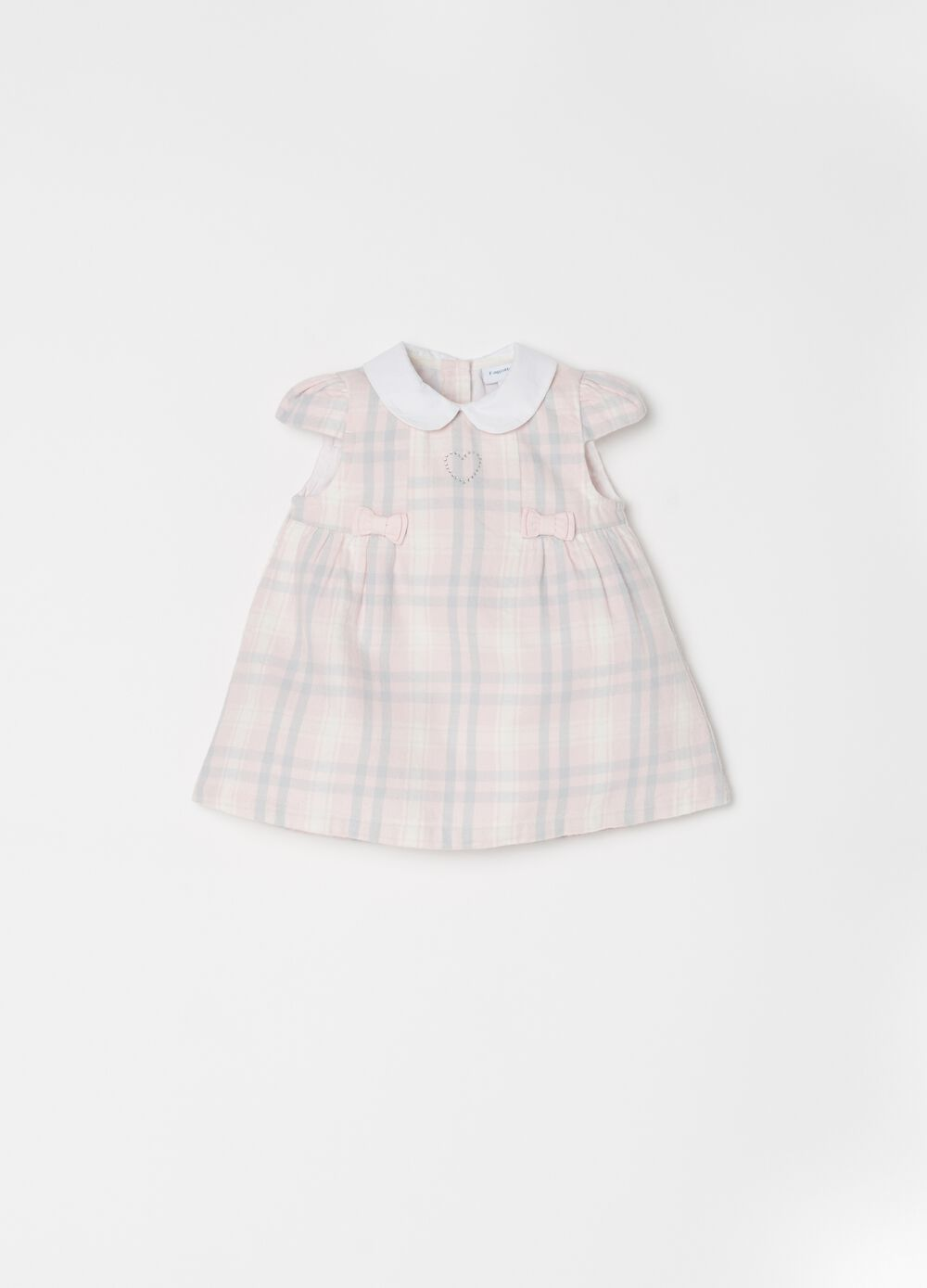 Dress with bows and check pattern