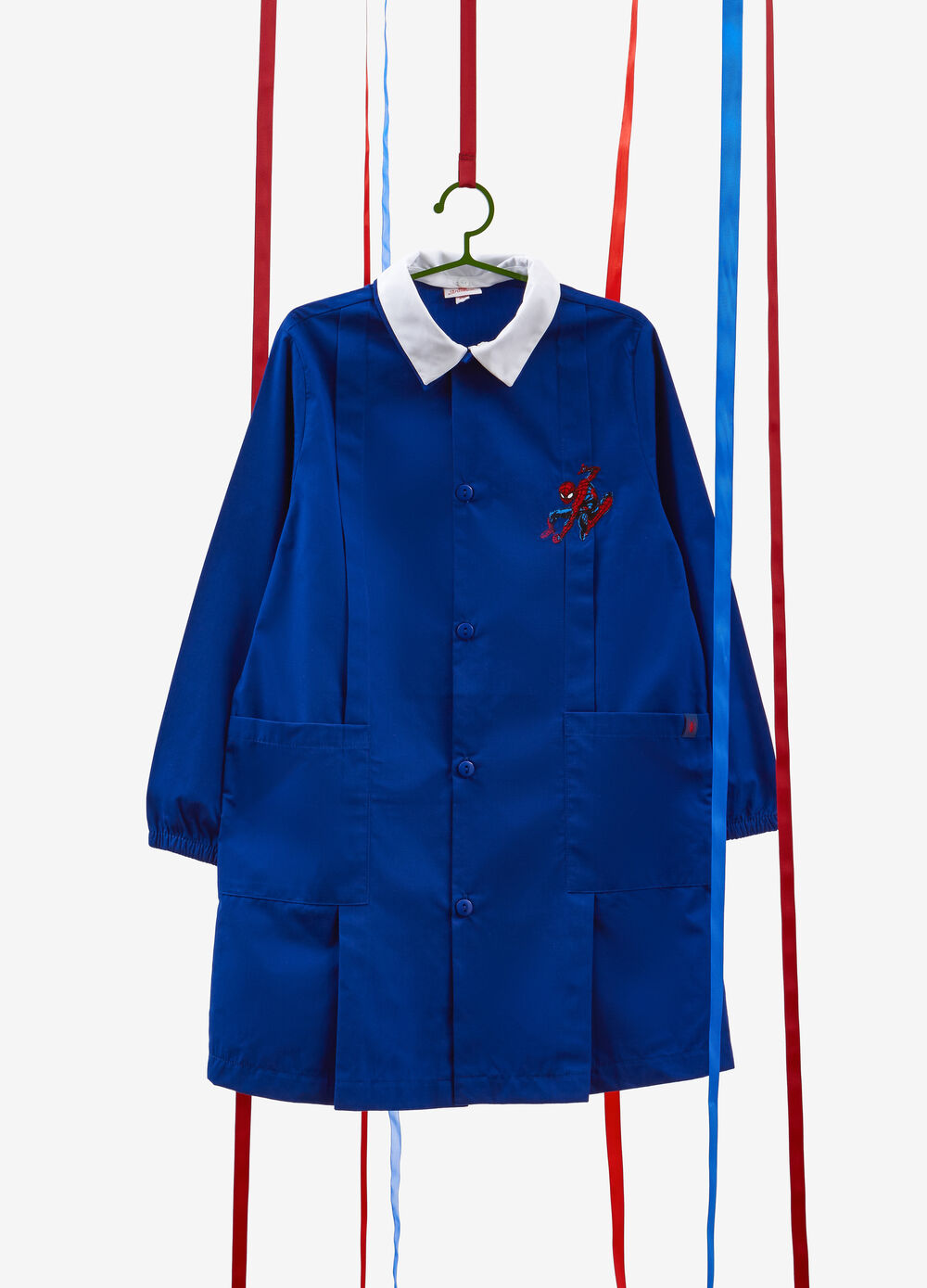 Spiderman smock with pleating