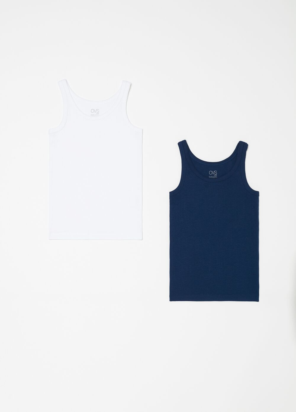 Set of two 100% biocotton vests
