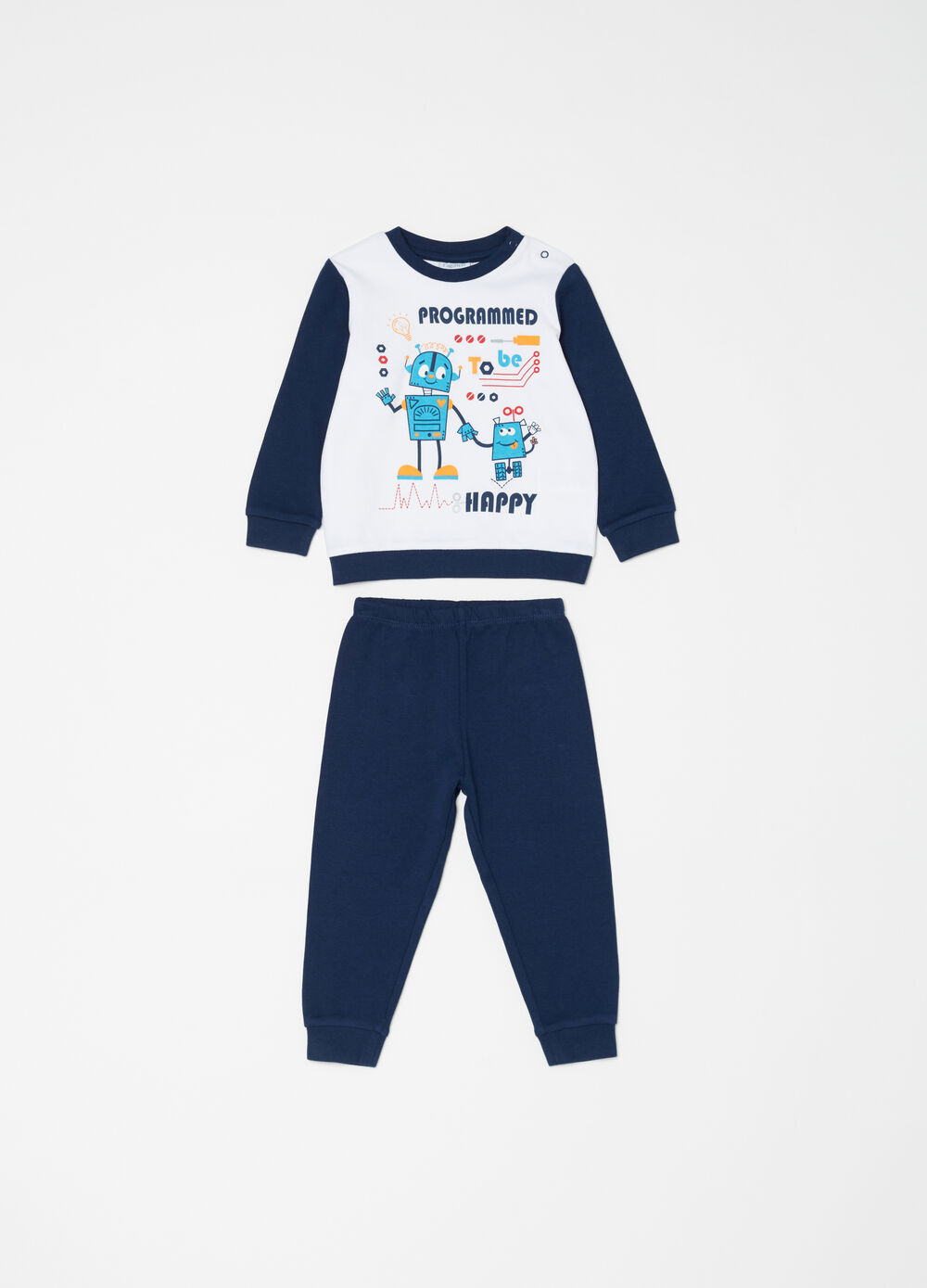 100% cotton pyjamas with robot print