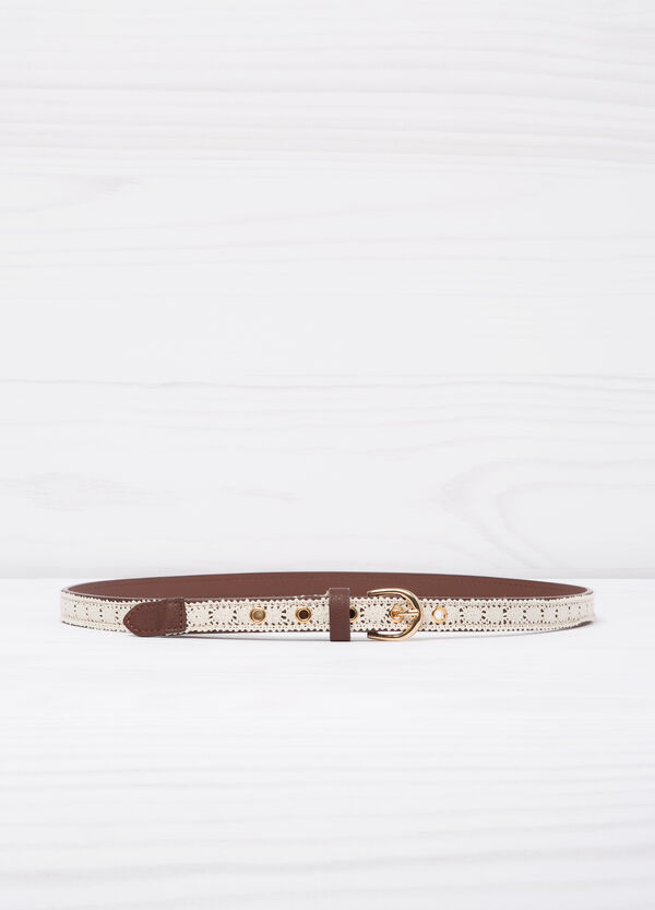 Belt with contrasting colour insert   OVS