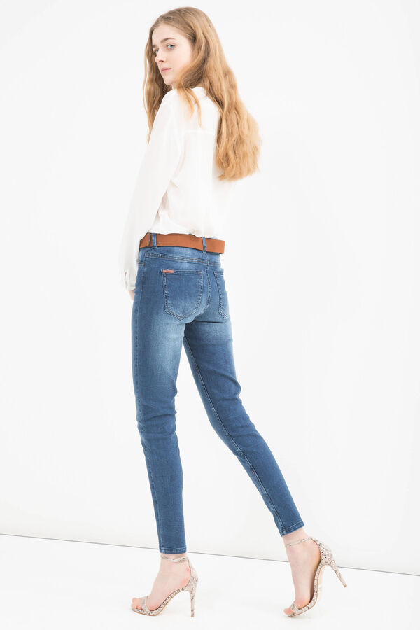 Skinny-fit, worn-effect jeans | OVS