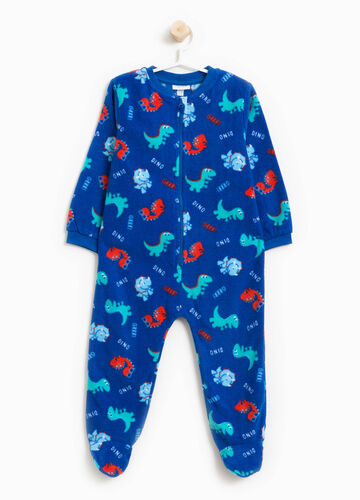 Sleep suit with zip and all-over print