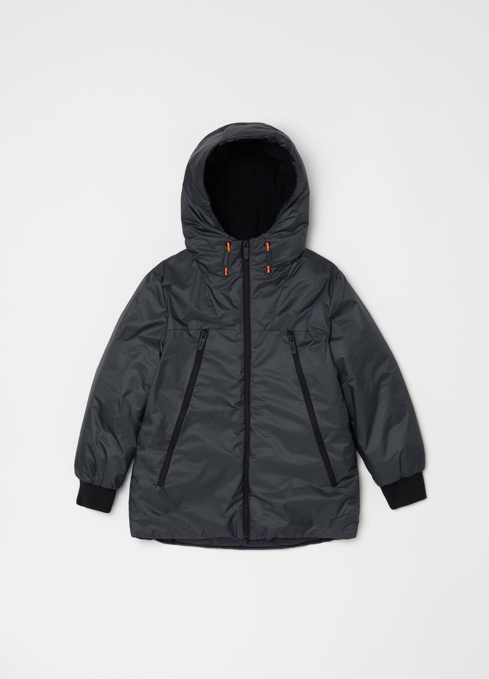 Padded jacket with high neck with zip