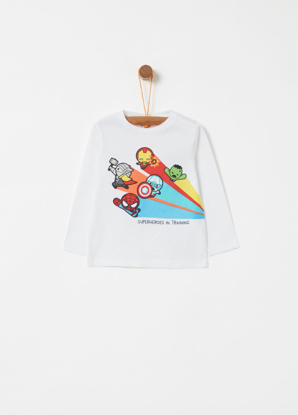 T-shirt with Avengers print and long sleeves