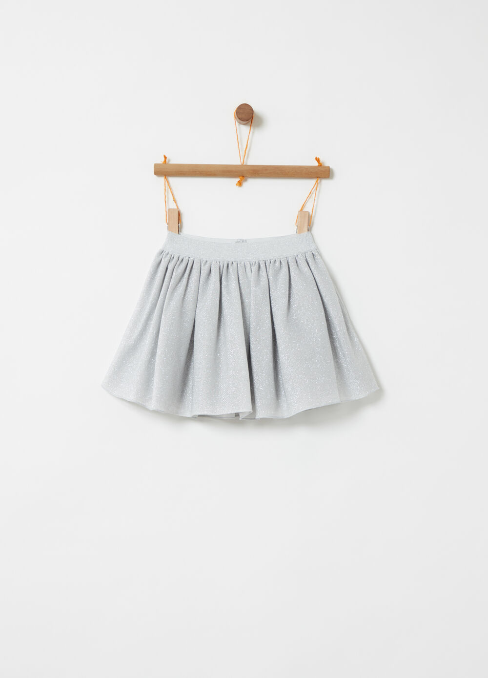 Tulle skirt with silver lurex
