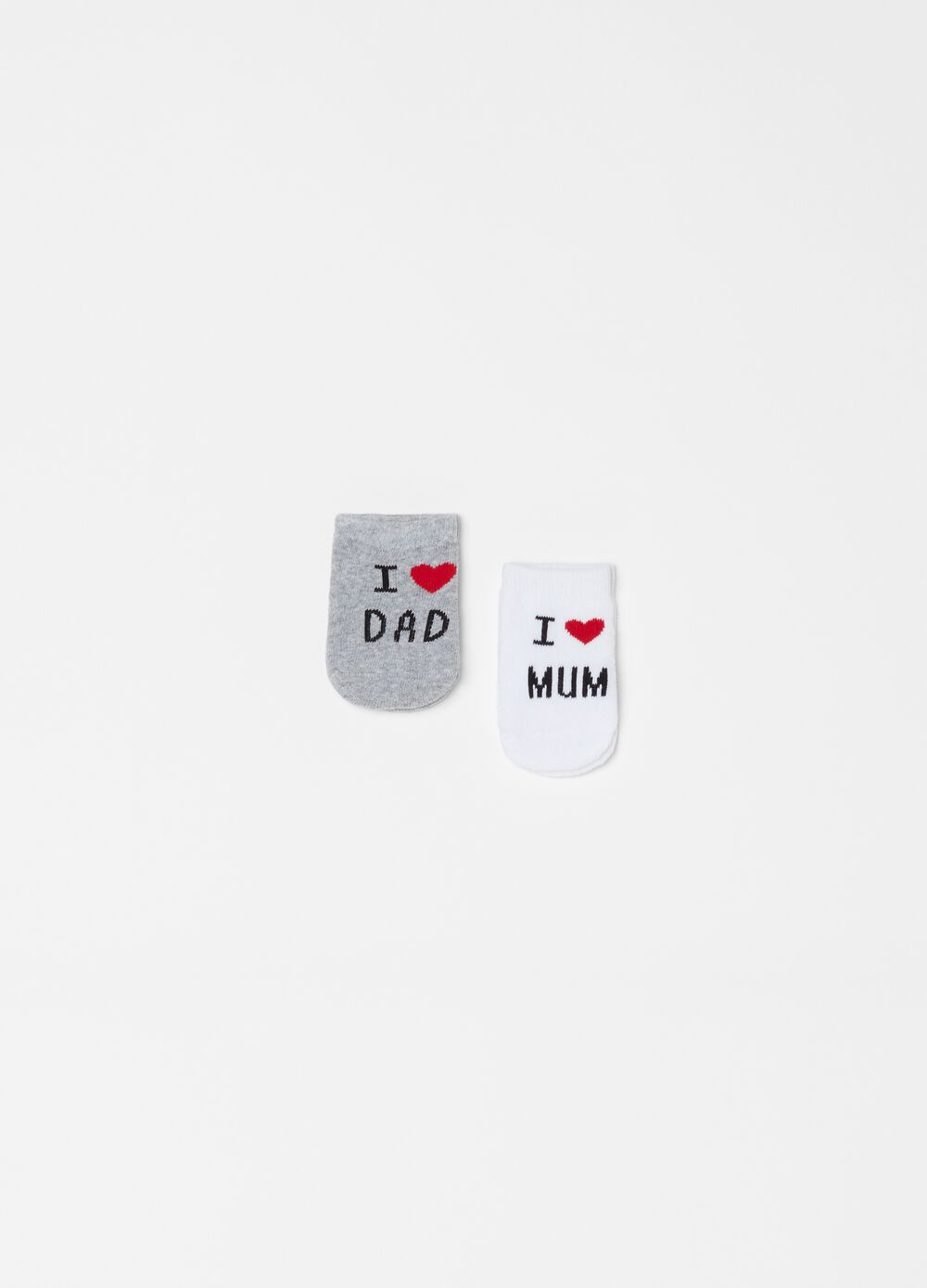 Two-pair pack short stretch socks with print