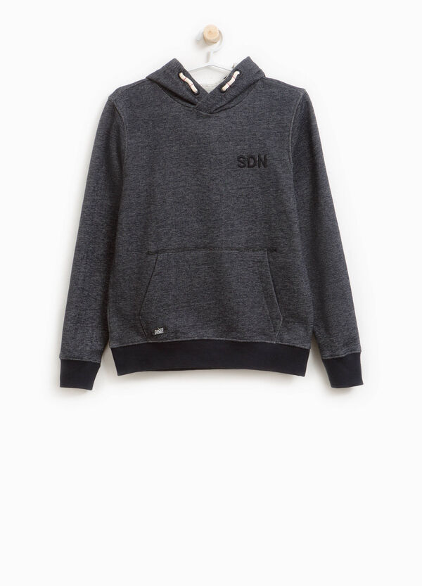 100% cotton mélange sweatshirt with embroidery
