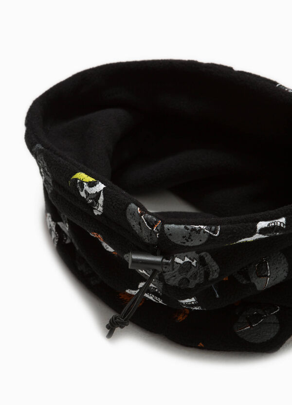 Neck warmer with drawstring and skulls | OVS