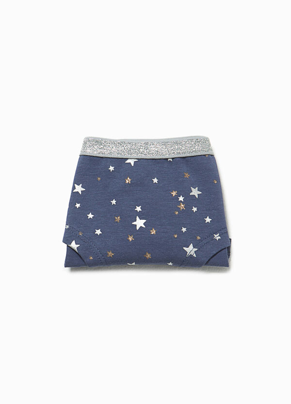 Star patterned French knickers with glitter waist | OVS